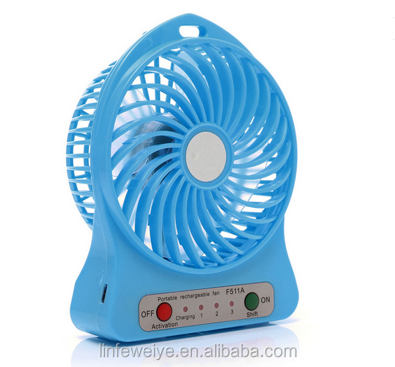 Best Gift Kids Mini Table Fan with USB Charging Plastic Hand Fan Portable Computer Fan