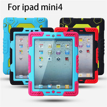 new style full protective case for ipad mini 4 back cover for ipad mini 4 with stand function