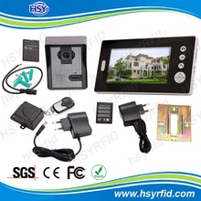7 inch color 2.4ghz digital wireless intercom door phone for apartment