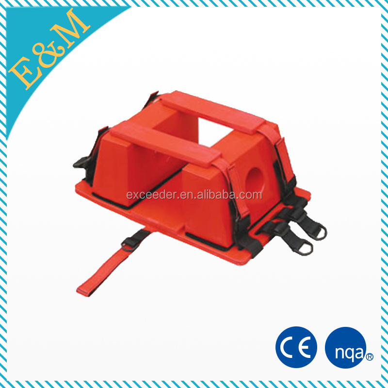 emergency used patient transfer spine board with head immobilizer