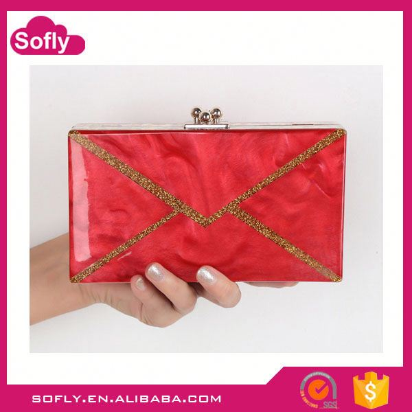 Clutch Bags For Young Women, Single Shoulder Bag, Acrylic Box Clutch