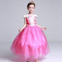 Kids Girl Costumes Sleeping Beauty Princess Aurora Party Dress Halloween Costumes For Dids