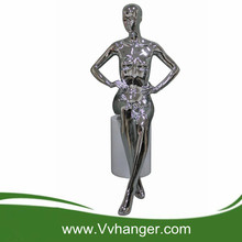 WCRL04 Black Chrome store display cheap mannequins for sale