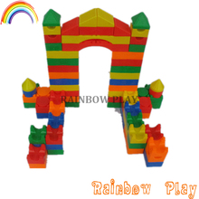 cheap funny play mini castle style combination toy building block set