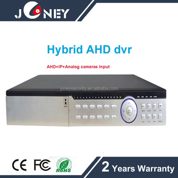 Standalone hybrid DVR 32 channel hd ahd dvr 32ch