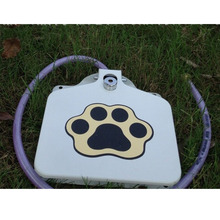 Cute dog paw press design pet dog drink feeder with water fountain nozzle