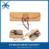 Mini size leather material pencil case for kids leather pencil case wholesale