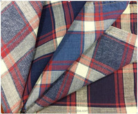 100% Cotton Yarn Dyed Enzyme/Lignt/Bleach Washing Stripe/Check/Plaid Shirting Fabric