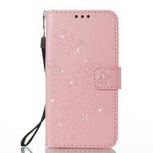 Low Price Genuine Luxury Diamond PU Leather Cosmetic Phone Wallet Case Cases for iPhone X 8 7 6 6s SE Plus
