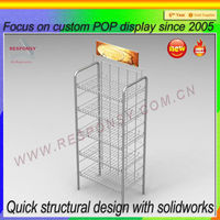 good quality wire display stand/metal display rack/wire shelving