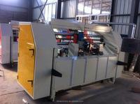 SDJsemi-automatic corruagted packing carton box stitcher/corrugated cardboard stitcher/corrugated carton manufacturing machinery