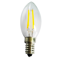 Led light import 2w 4w glass material 2 years warranty energy saving lamp 220v c35 filament candle led