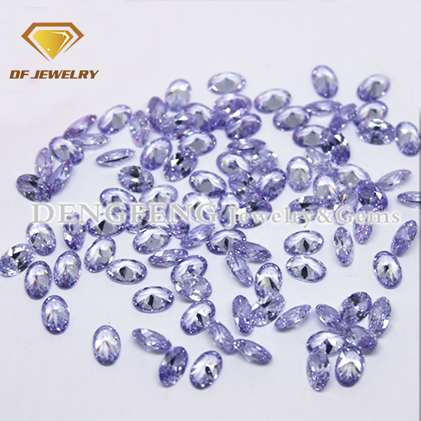 Factory Low Price Wholesale Zircon Stone Loose Lavender Cubic Zircon