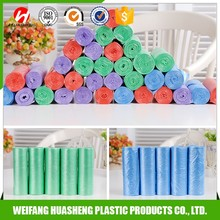Customized colored print plastic garbage bags