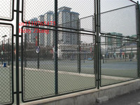 High Quality&Low Price!!!Black Chain Link Fencing Gate/Stadium Gate(Anping Biggest Factory)