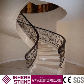 Iron Railings Marble Staircase / Grand Building Staircase