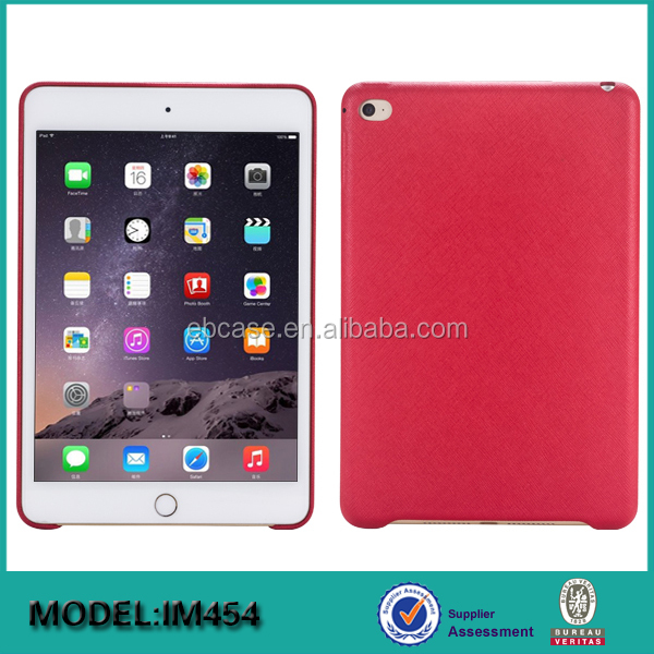 High quality leather back cover for ipad mini 4 case,for ipad leather tablet case