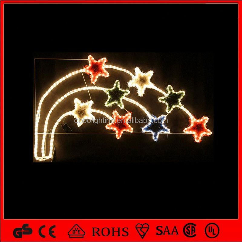 2013 new christmas decoration lights led outdoor lighting led falling star motif light
