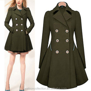 Womens Ladies Long Sleeve Trench Coat Jacket Slim Casual Double-breasted Coat