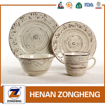 New product 16pcs wholesale embossed stoneware dinnerware from china suppliers