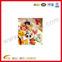 cute fashion key chain in animal design key pu holder with beads for promotion gift 2013