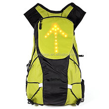 Waterproof Bike Safety Backpack with LED Turn Signal Pilot Lamp Wireless Remote Control Cycling for Night Cycling Safety