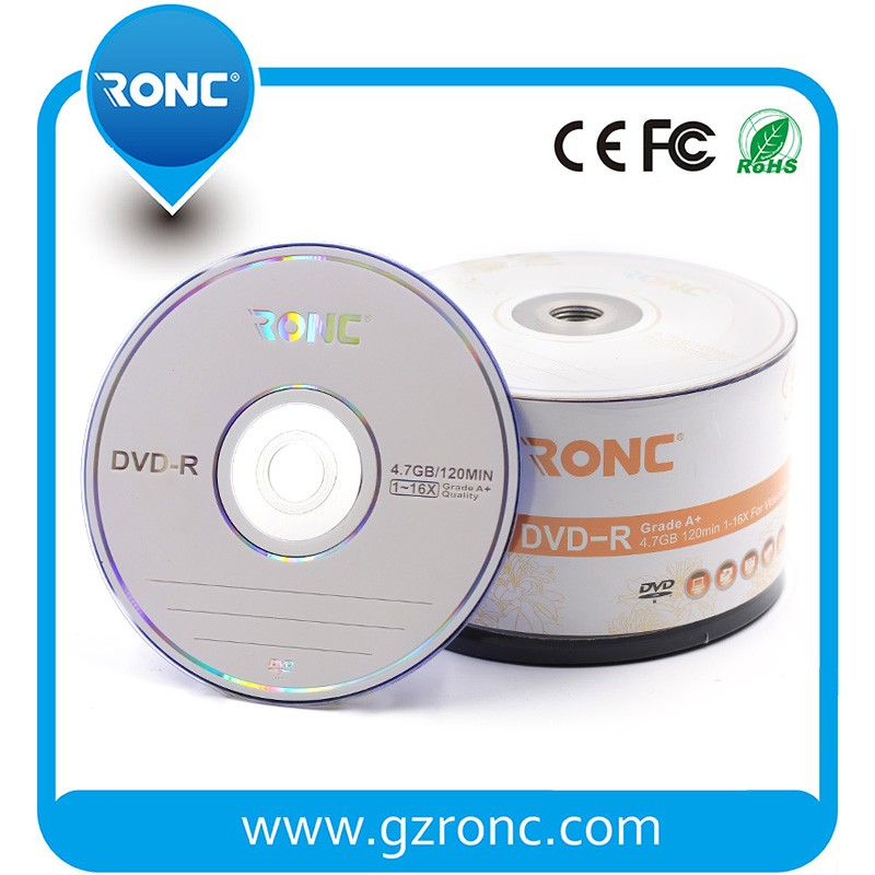 RONC High Quality Wholesale Blank 16x DVD-R/ 4.7GB dvd-r