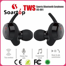 2017 Soartop wholesale OEM bluetooth wireless earphones with memory card