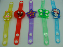 promotional gifts cartoon soft pvc LED bracelets bangles