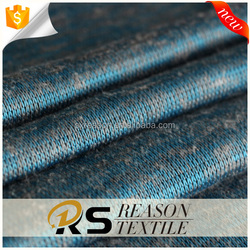 2018 high quality 75% polyester 20%rayon 5%sp knitted hacci fabric for garments
