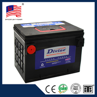 Automotive 12V maintenance free DIVINE battery from car