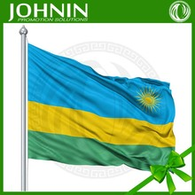 world market all sizes countries flying 100% polyester Rwanda national flag