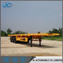 Best selling model China 40' flat bed semi trailer, container semi-trailer for sale