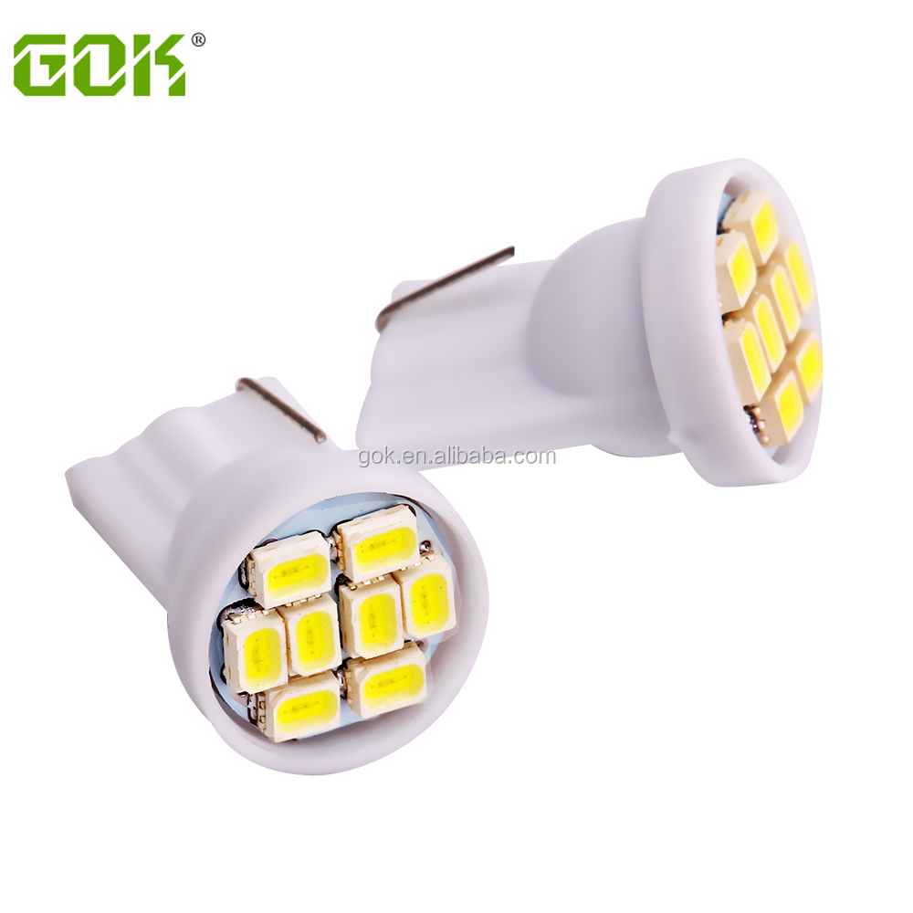 T10 Car Led <strong>Auto</strong> W5w 194 t10 8smd W5W T10 8led Smd 1206 3020 Wedge Lamp Bulbs t10 led bulb Side Indicator Light