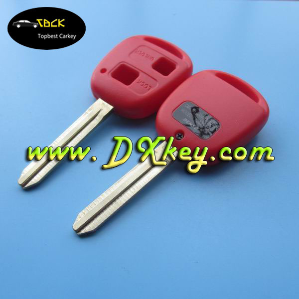 Good Price 2 buttons blank key blank for toyota key no logo car remote shell