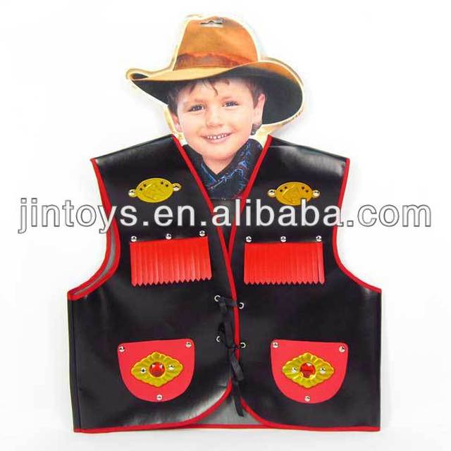 children playing cowboy leather vest clothes EN71 ASTM