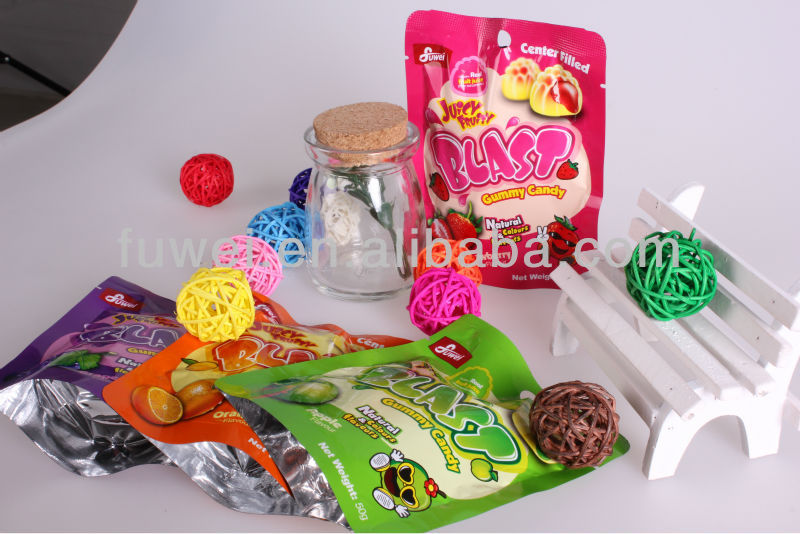 50g Fruity Blast Center filled Halal gummy candy