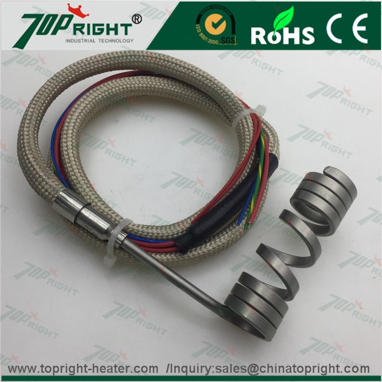 High temperature stainless steel coil heater Electrical hot runner coil heating element