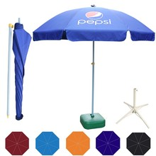 Cheap promotional advertising custom digital printing outdoor beach umbrella