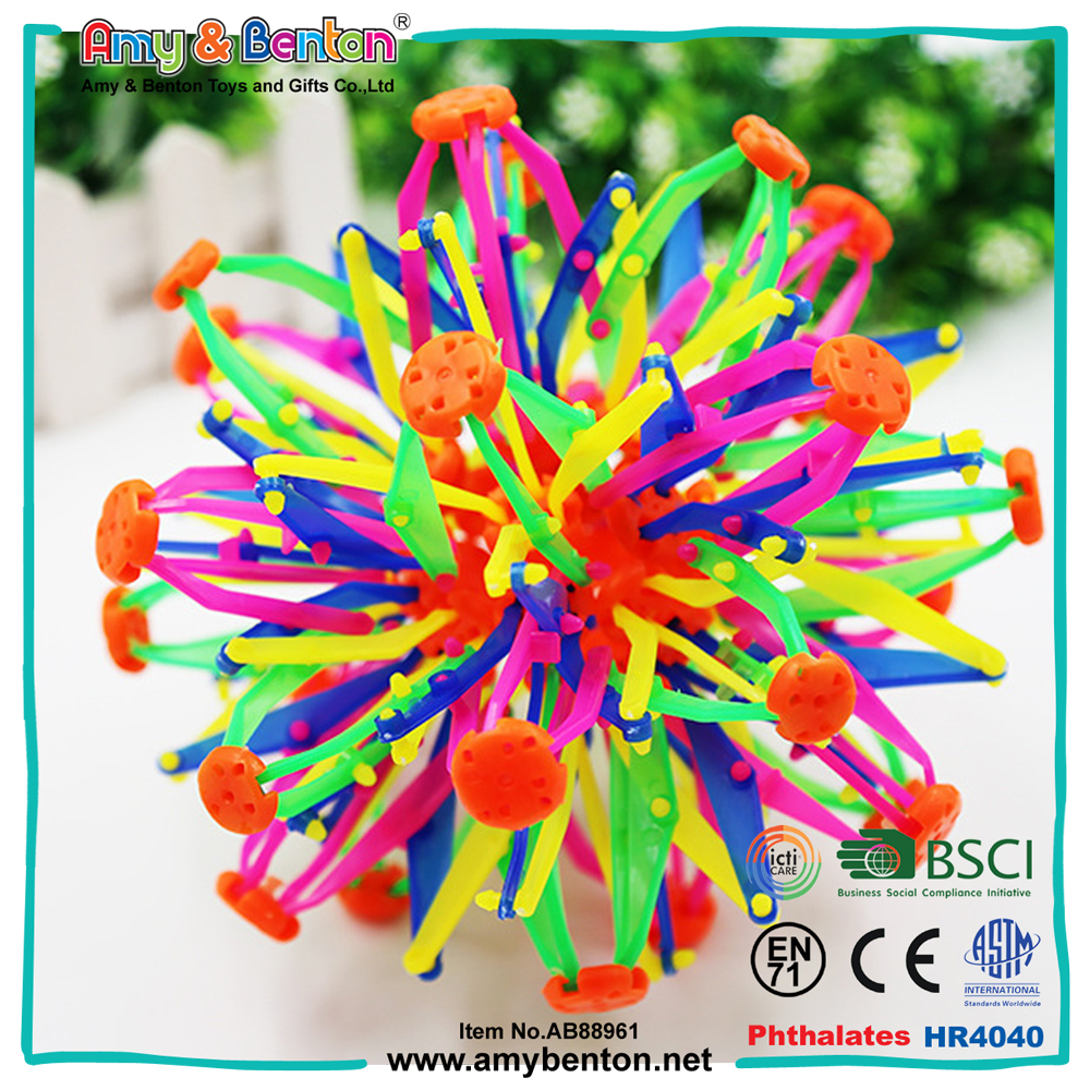 Hot selling small plastic magic flexible stretch ball toy