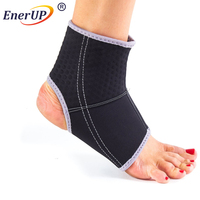 2017 profession sport products copper ankle compression sleeve, colored elastic ankle support