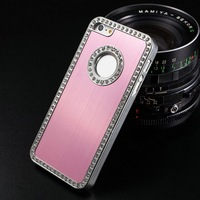 China Wholesale Water Proof Aluminum Custom Design Phone Case Cover Decorated with Rhinestone Like Picture Frame for Iphone 5 5S