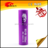 IMREN 3000MAH 40A/ 40A rechargeable battery with high quality for Strong vaping