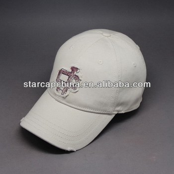 FITTED BASEBALL CAP WITH APPLIQUE PRINTING