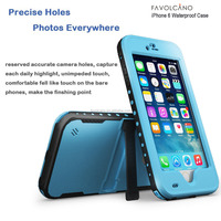 Waterproof Case for Iphone 6 Shockproof PVC Touch ID Protective Plastic Mobile phone Case Cover 4.7 inch Light Blue