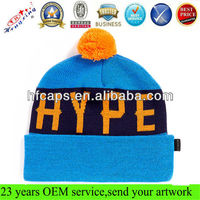 2013 winter knitted wool hat custom beanie winter ski hat cap