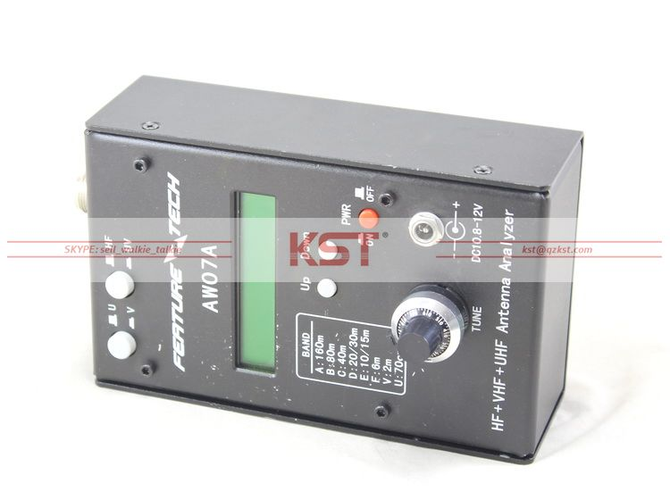 AW07A HF/VHF/UHF 160M Impedance SWR Antenna Analyzer for Ham Radio Hobbist