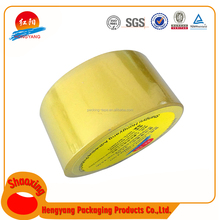 2017 New Deisgn Professional Manufacturer Yellowish Adhesive Tape Thermal Resistance Transparent Packing Tape