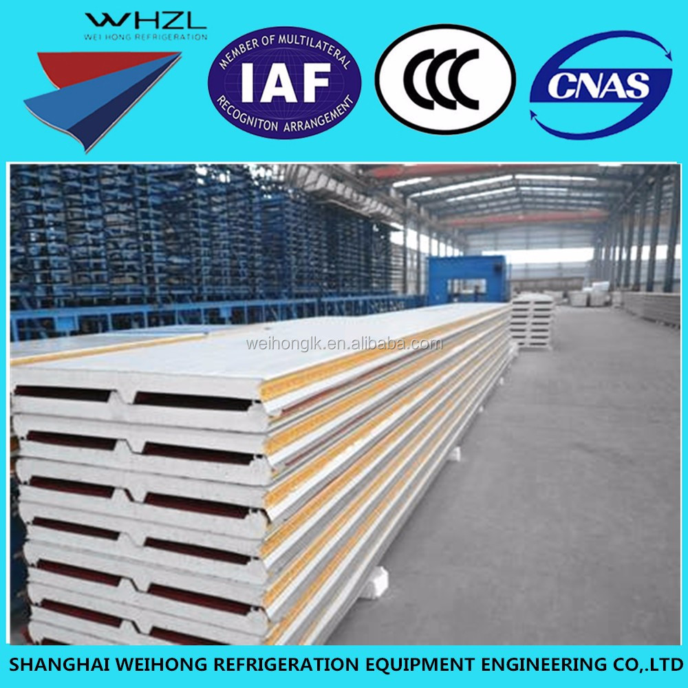 Roof sandwich panel for cold room and freezer