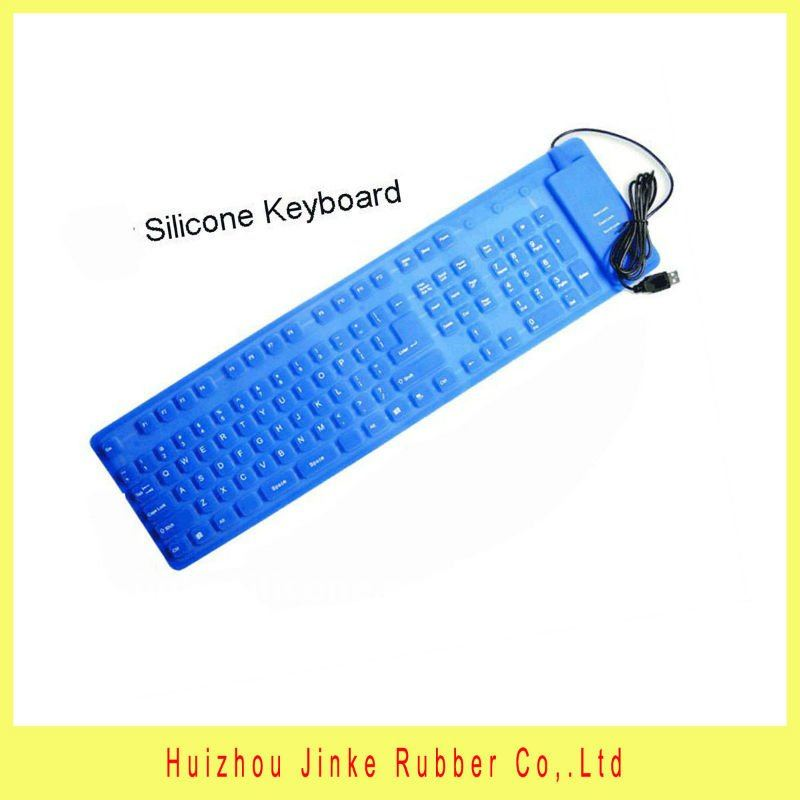 2013 new design 109 keys flexible silicone keyboard